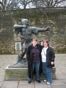 Al & me with Robin Hood Nottingham 2010