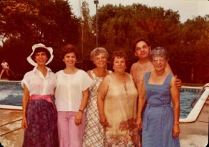 Mom, her sisters and brother in 1979