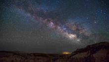 Night sky with stars over the desert